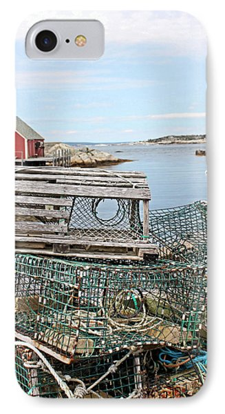 Lobster Pots Phone Case by Kristin Elmquist