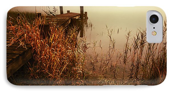 Loch Ard Early Mist  IPhone Case by John Farnan