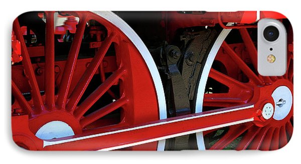 IPhone Case featuring the photograph Locomotive Wheels by Dariusz Gudowicz