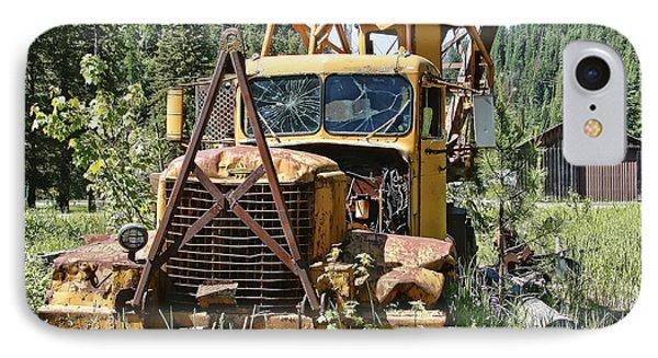 Logging Truck - Burke Idaho Ghost Town Phone Case by Daniel Hagerman