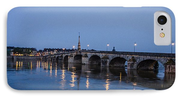 IPhone Case featuring the photograph Loire River By Night by Marta Cavazos-Hernandez