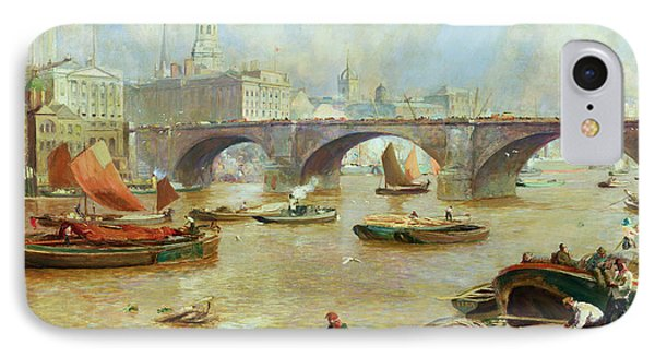 London Bridge From Bankside Phone Case by Sir David Murray