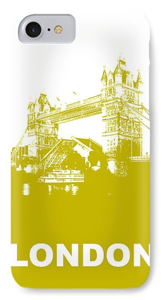 London Bridge Poster Phone Case by Naxart Studio