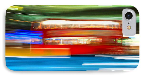 IPhone Case featuring the photograph London Bus Motion by Luciano Mortula
