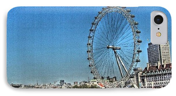 London Eye, #london #londoneye IPhone Case