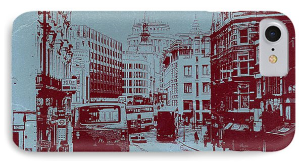 London Fleet Street IPhone Case by Naxart Studio