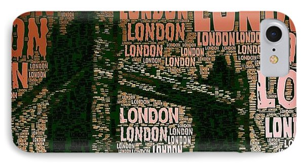 #london Just London IPhone Case