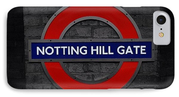 #london #nottinghillgate #underground IPhone Case