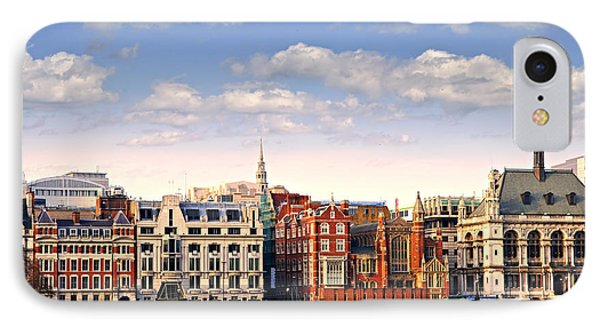 London Skyline From Thames River Phone Case by Elena Elisseeva