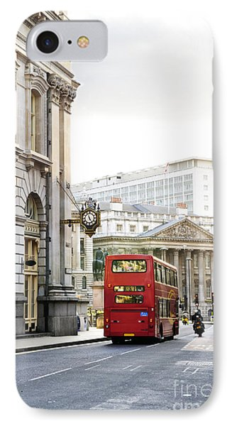 London Street With View Of Royal Exchange Building Phone Case by Elena Elisseeva