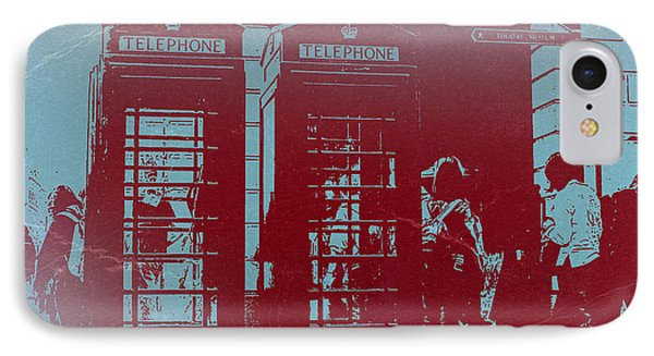 London Telephone Booth IPhone Case by Naxart Studio