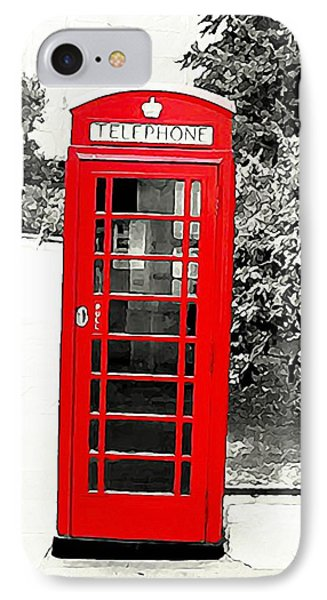 London's Red Booth Phone Case by ABA Studio Designs