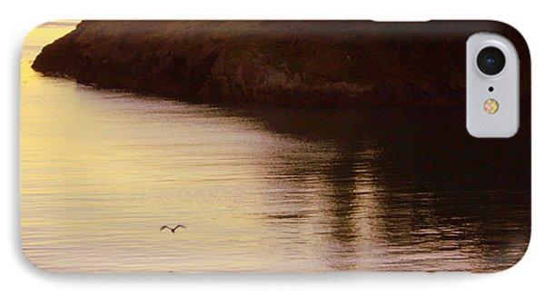 Lone Bird At Rosario Beach Point Phone Case by Randall Thomas Stone