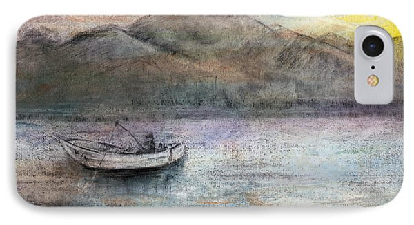 Lone Fisherman Phone Case by Arline Wagner