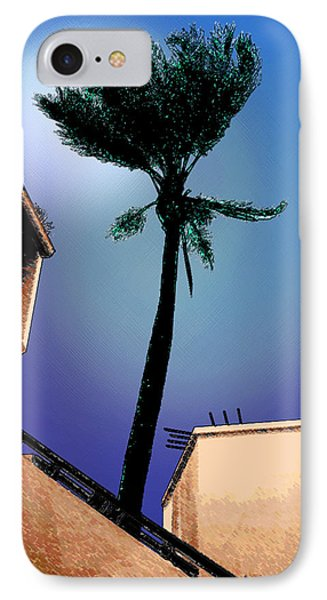 Lone Palm IPhone Case by Ginny Schmidt