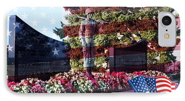 Lone Soldier Memorial Phone Case by Kay Novy