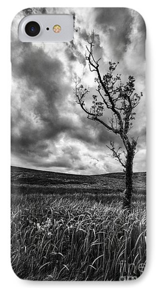 Lone Tree On The Ayrshire Moors Phone Case by John Farnan