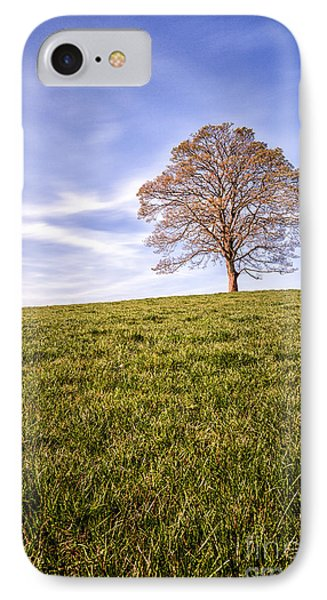 Lone Tree On The Hill Colour Phone Case by John Farnan