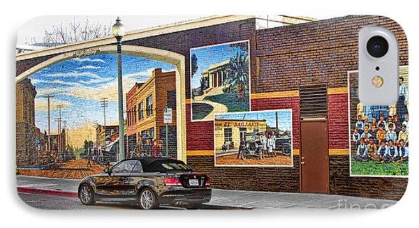 Old Town Santa Paula Mural IPhone Case