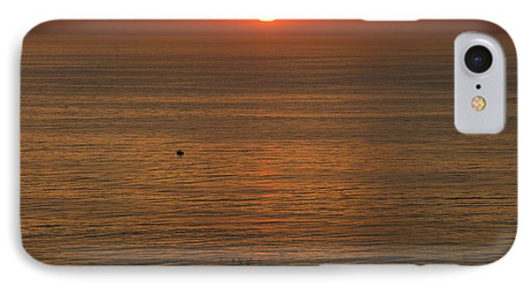 Lonely Boat In Quiet Move Phone Case by Viktor Savchenko