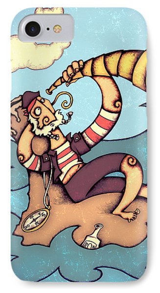 Lonely Pirate IPhone Case by Autogiro Illustration