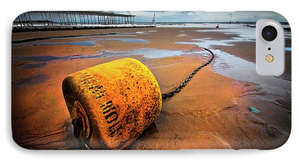 Lonely Yellow Buoy IPhone Case by Meirion Matthias