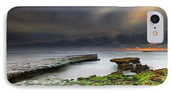 Long Exposure Of A Stormy Sunset At A IPhone Case by Larry Marshall
