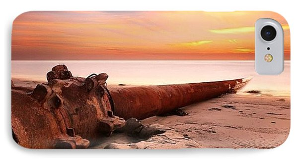 Long Exposure Sunset At Cardiff State IPhone Case by Larry Marshall