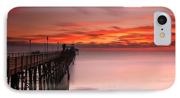 Long Exposure Sunset At The Oceanside IPhone Case by Larry Marshall