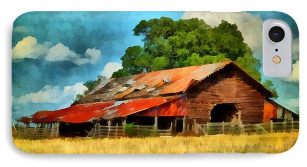 IPhone Case featuring the painting Long Road Barn by Lynne Jenkins