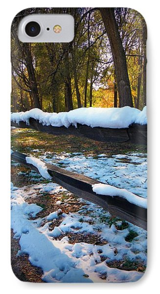 Long Snow Fence IPhone Case by Michelle Frizzell-Thompson