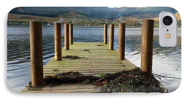 IPhone Case featuring the photograph Long Walk Off A Short Pier by Lynn Bolt