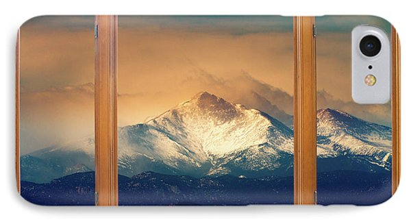 Longs Peak And Mount Meeker Wood Window View Phone Case by James BO  Insogna