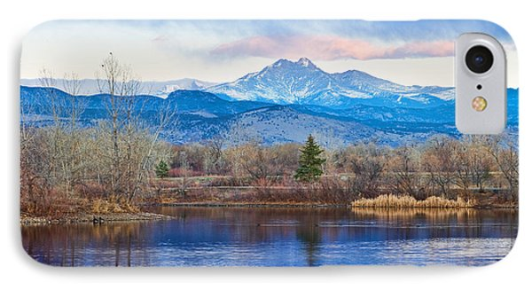 Longs Peak And Mt Meeker Sunrise At Golden Ponds Phone Case by James BO  Insogna