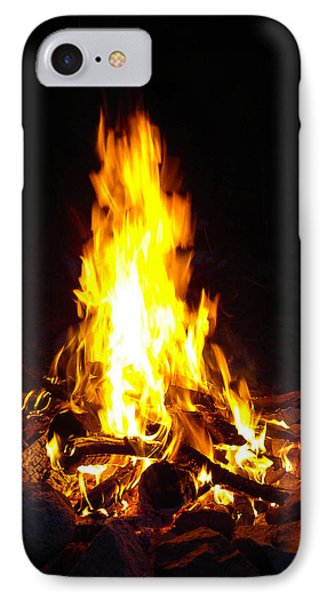 IPhone Case featuring the photograph Look Into The Fire by Cheryl Perin