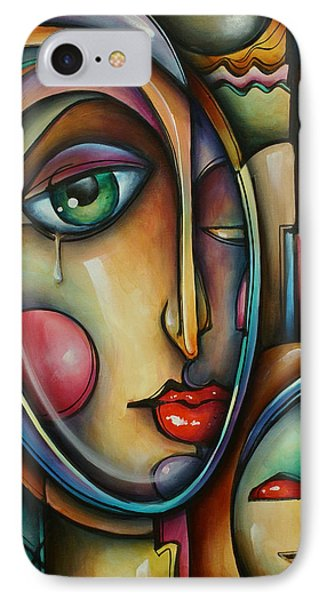 Look Two Phone Case by Michael Lang