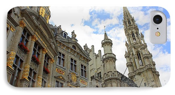 Looking Up At The Grand Place Phone Case by Carol Groenen