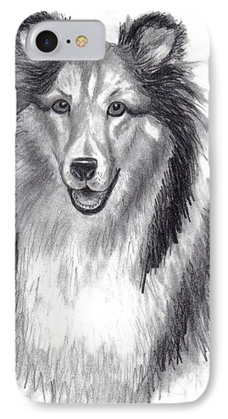 IPhone Case featuring the drawing Looks Like Lassie by Julie Brugh Riffey