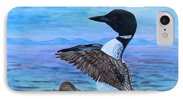 Loon Mother And Baby IPhone Case