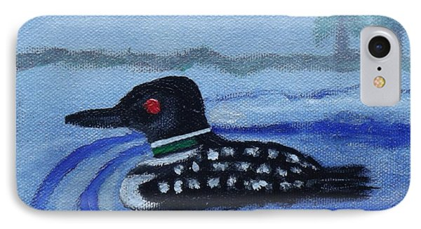 Loon On Lake Winnipeaukee IPhone Case by Margaret Harmon