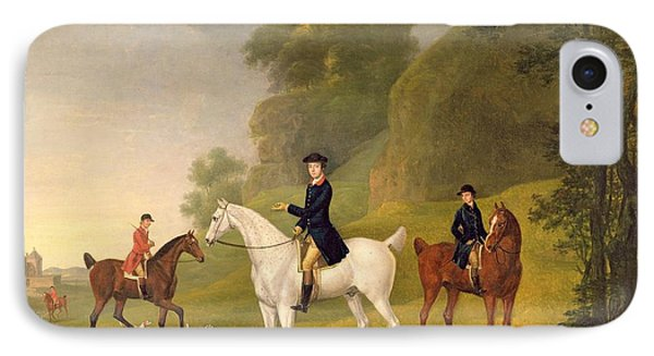 Lord Bulkeley And His Harriers IPhone Case by Francis Sartorius