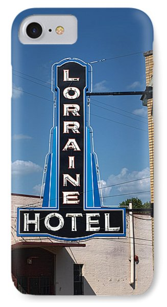 Lorraine Hotel Sign Phone Case by Joshua House