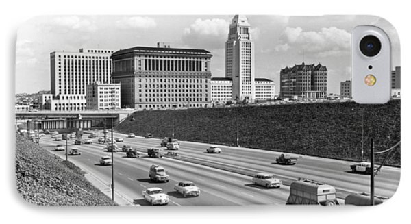 Los Angeles In The 1950s IPhone Case by Underwood Archives