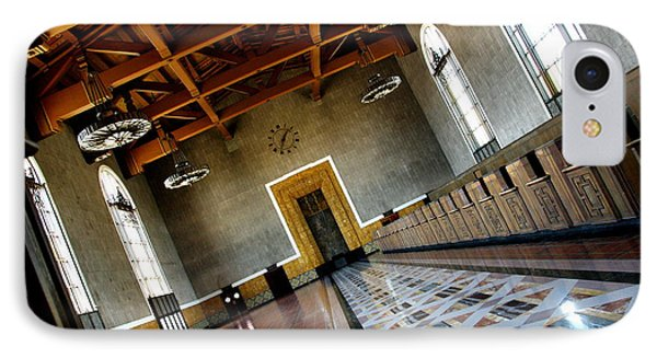 Los Angeles Union Station Terminal Phone Case by Jeff Lowe