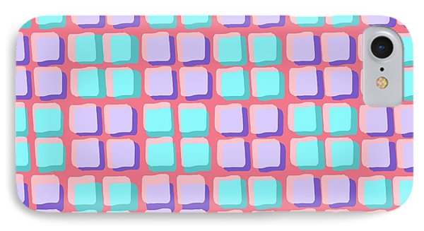 Lots Of Squares Phone Case by Louisa Knight