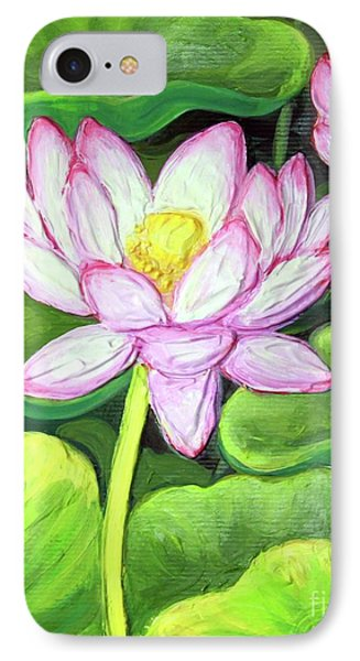 IPhone Case featuring the painting Lotus 1 by Inese Poga
