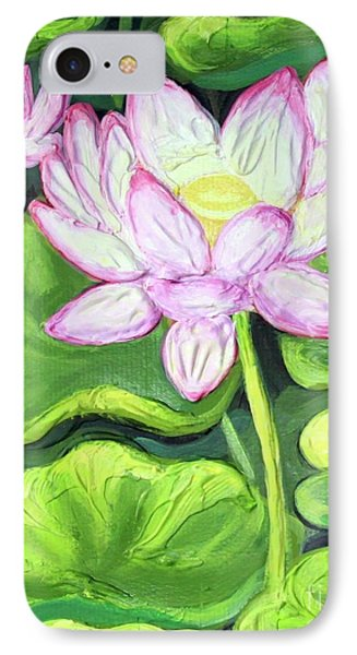 IPhone Case featuring the painting Lotus 2 by Inese Poga