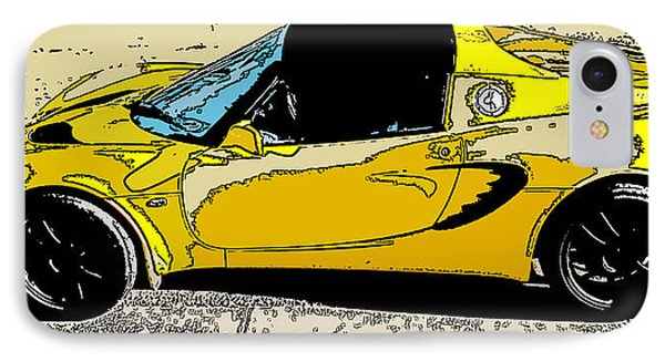 IPhone Case featuring the photograph Lotus Elise Side Study by Samuel Sheats