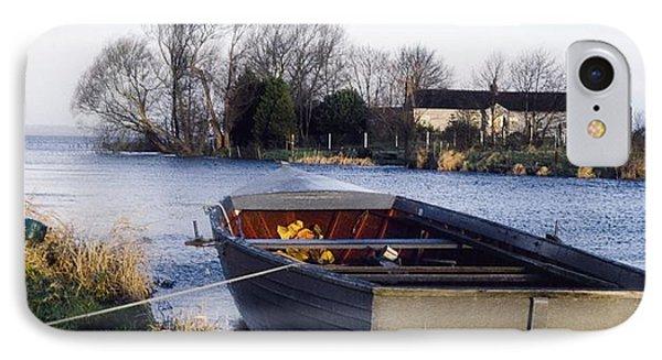 Lough Neagh, Co Antrim, Ireland Boat In Phone Case by Sici
