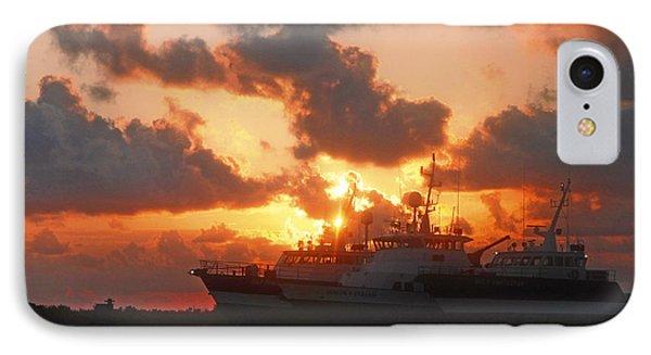 Louisiana Sunset In Port Fourchon IPhone Case by Luana K Perez